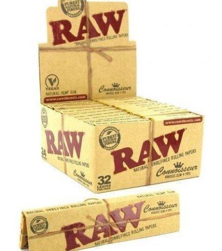 RAW Connoisseur feuilles à rouler + Tips King Size