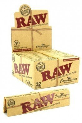 RAW Connoisseur feuilles à rouler + Tips King Size
